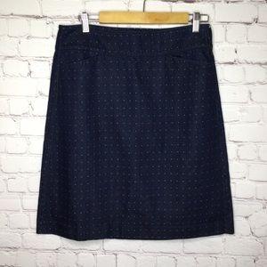 Talbots Blue Denim Skirt with White Dots